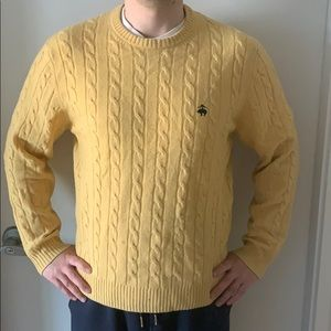 Brooks Brother Lambswool Cable Crewneck Sweater